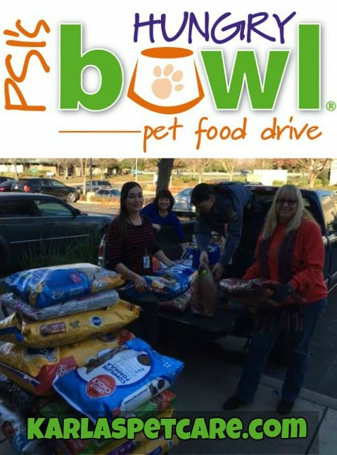 Karla's Pet Care PSI Hungry Bowl Food Drive 2015