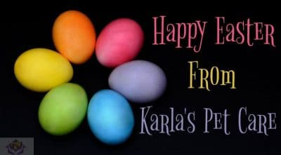 Happy Easter from Karla's Pet Care!